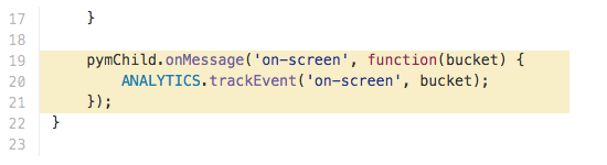 example tracking of on-screen visibility for graphics